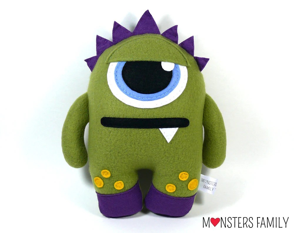 Toy Monster Monster Plush Toy Stuffed Animal Monster Nursery Personalized