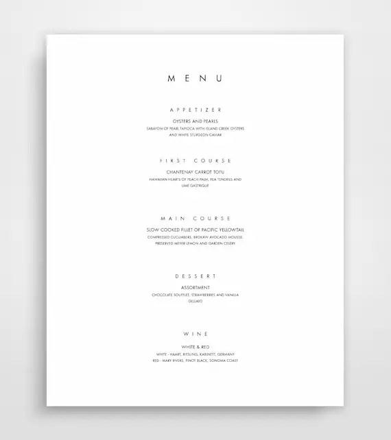printable menus template - Akbagreenw