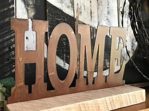 Medium Of Rustic Metal Home Decor