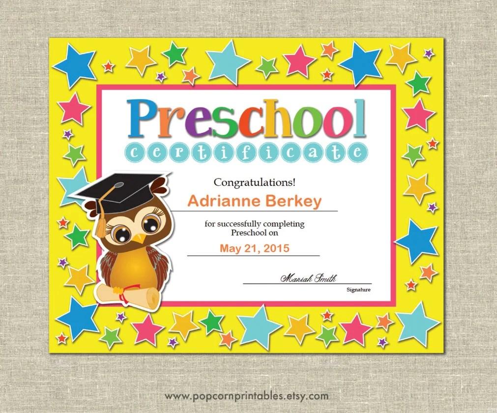 preschool graduation certificate editable - Goalgoodwinmetals