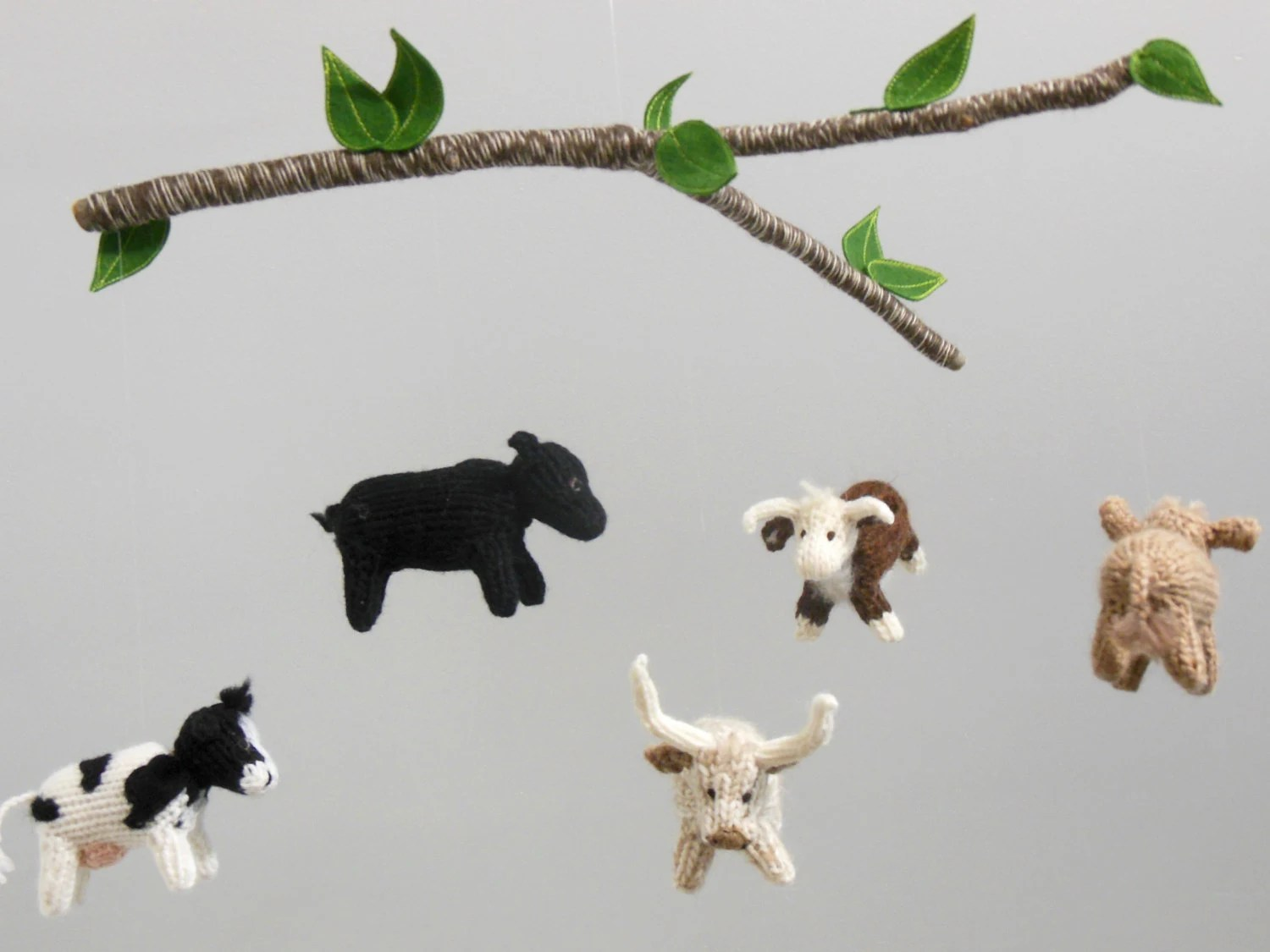 Cow Mobile Cow Baby Mobile Farm Nursery Boy Baby Nursery - Crib Mobile Definition
