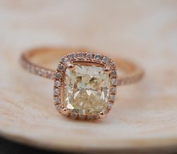 Fascinating Yellow Diamond Engagement Rings Jasmine Yellow Diamond Roseg Ring Cushion Engagement Ring By Eidel Yellow Diamond Engagement Rings Jasmine Yellow Diamond Ring