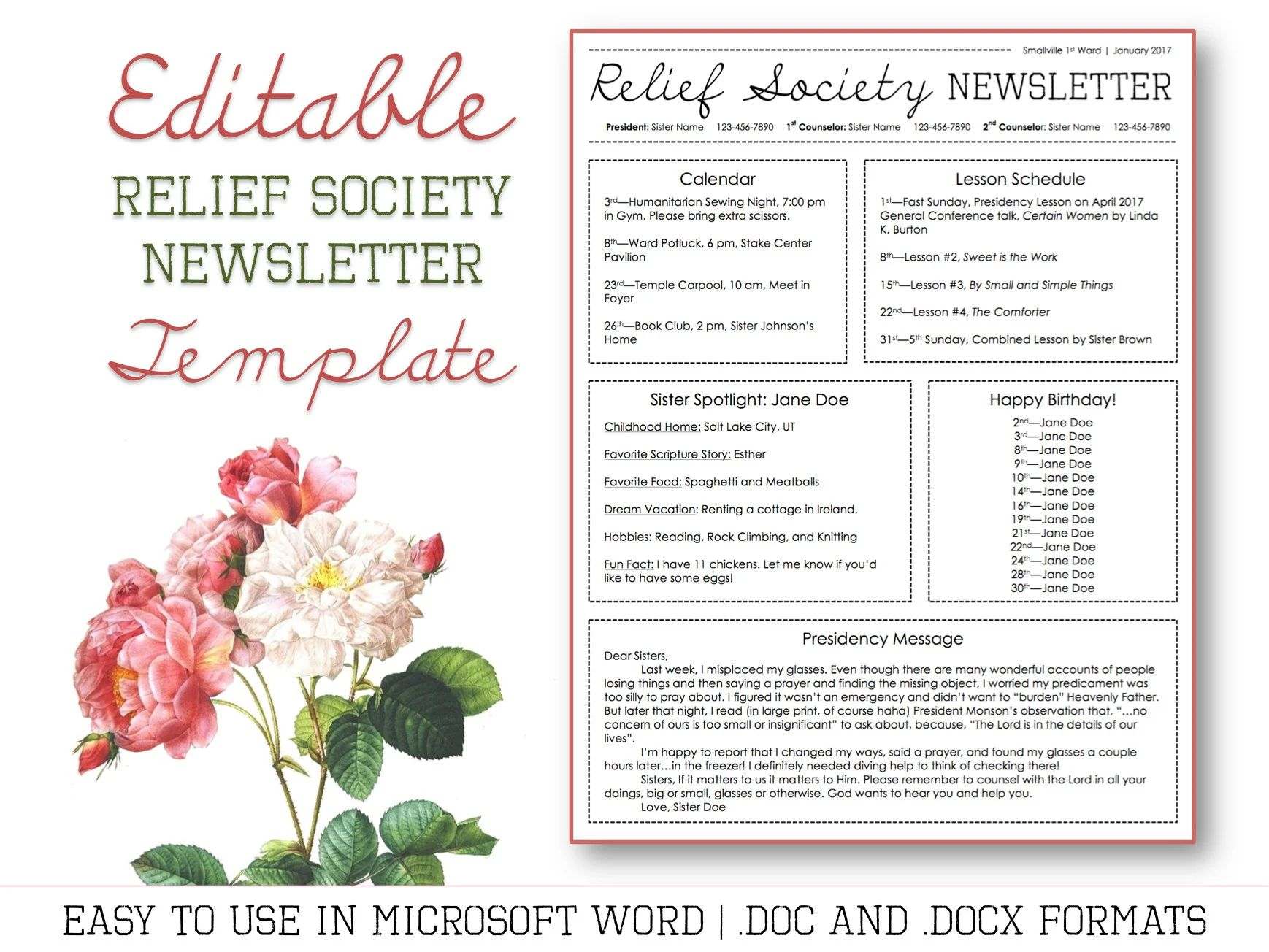 downloadable newsletter templates