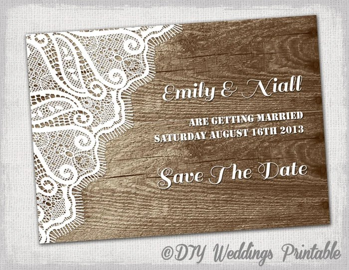 96+ Vintage Save The Date Templates Free - Save The Date Front Back