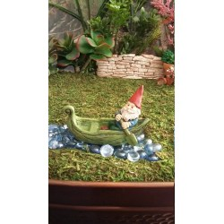 Natural Gnome Gnome Garden Village Get Shipping Estimate Fairy Garden Miniature Gnome Resin Leaf Canoe