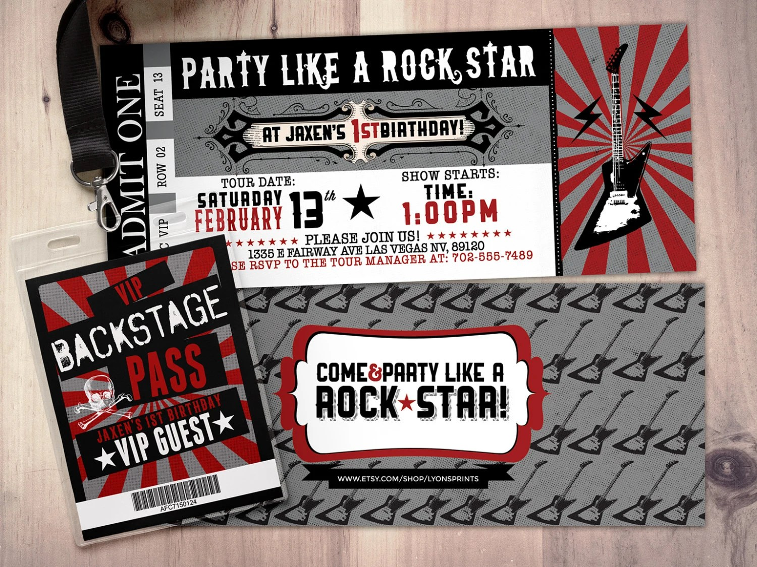 concert ticket invitations - Akbagreenw - party ticket invitations