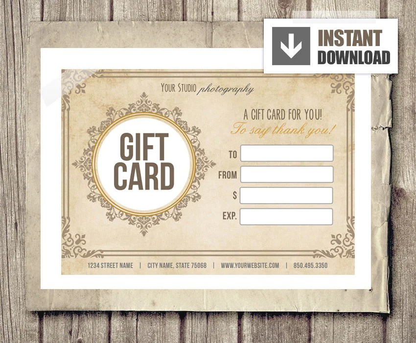 printable photography gift certificate template - Militarybralicious - business gift certificate template free