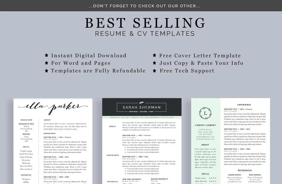 Resume Bundle Professional Resume Business Cards Modern