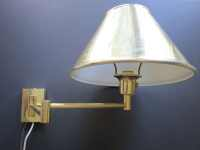 Retro Extending Wall Lamp // Vintage Gold Metal Wall Mount