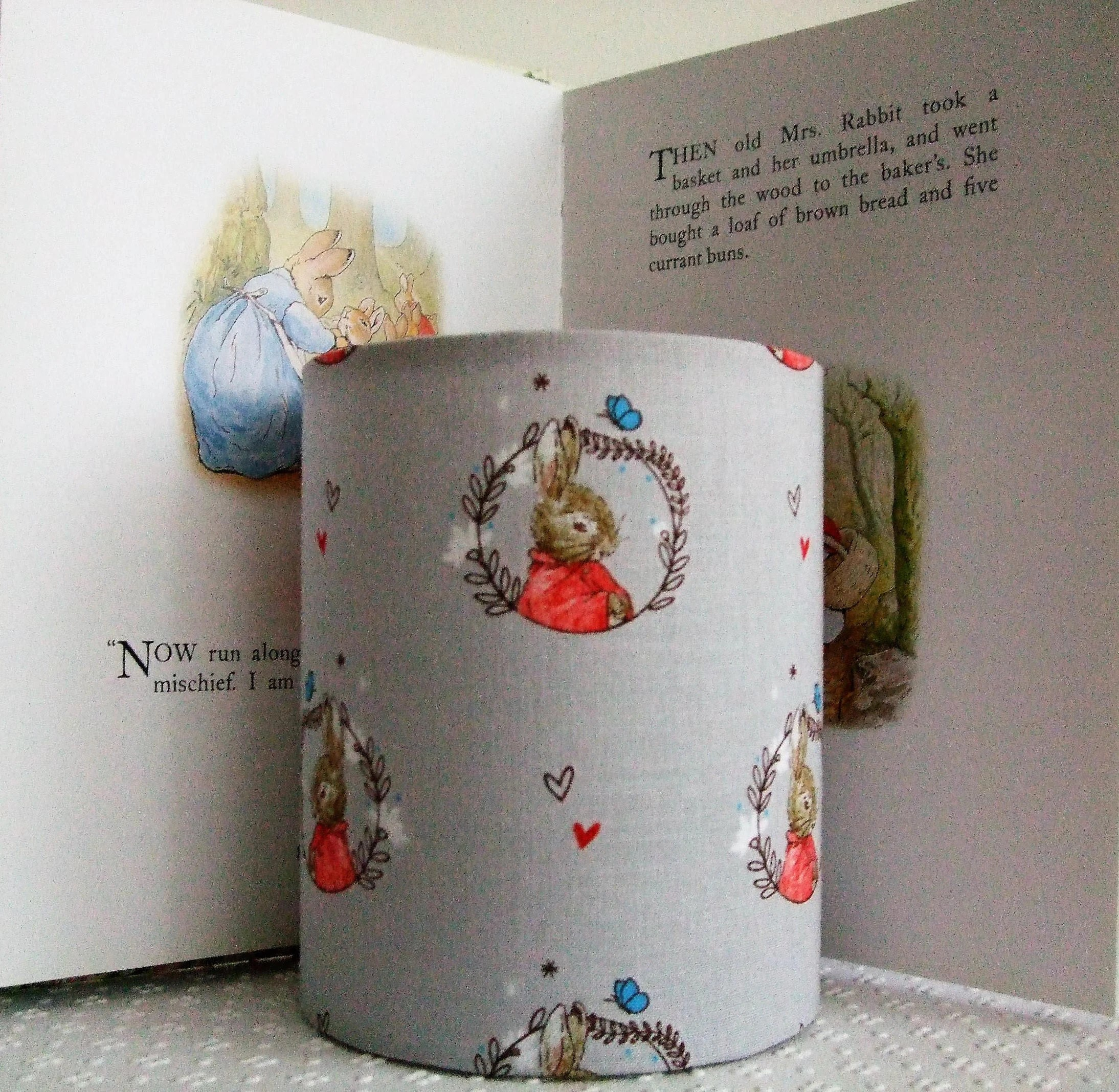Red Night Light For Nursery Beatrix Potter Flopsy Handmade Nursery Night Light