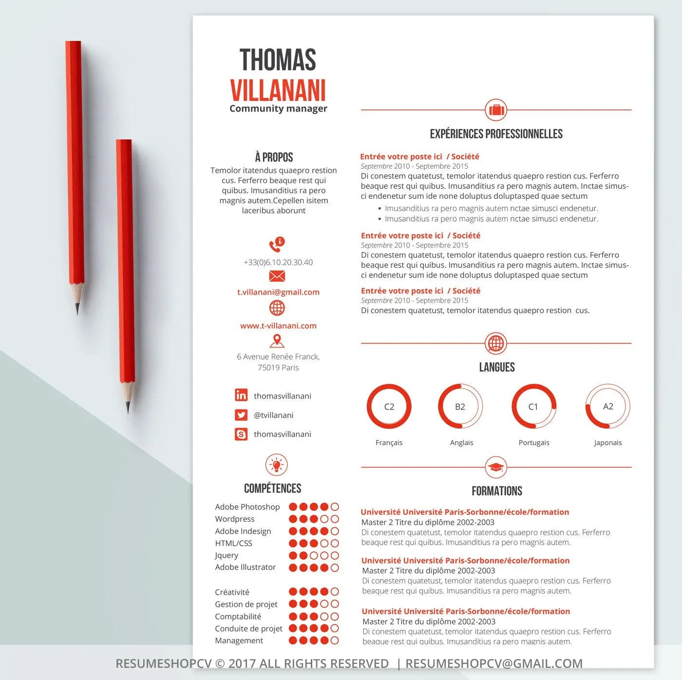 graphique photo cv
