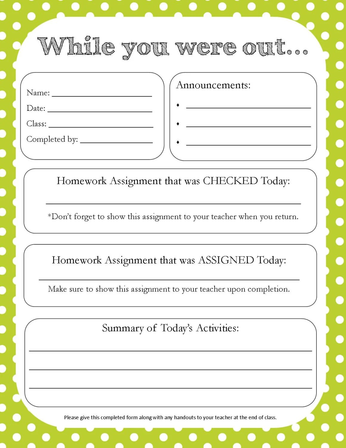 class assignment sheet - Intoanysearch - printable assignment sheet