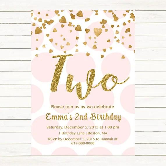 second birthday invitations - Towerssconstruction