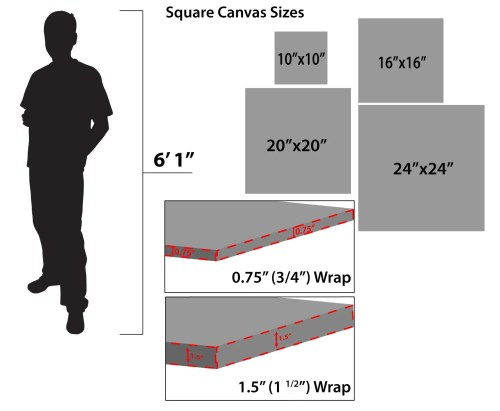Medium Of Standard Canvas Sizes