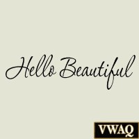 Hello Beautiful Wall Decal Beauty Quotes Inspirational Wall