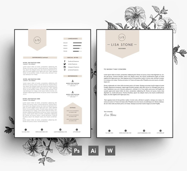 Modern template  Business car CV template Cover - resume printable template