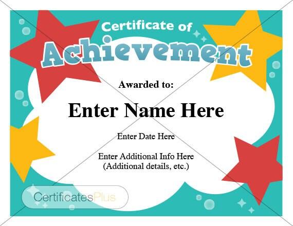 certificate of achievement for children - Goalgoodwinmetals