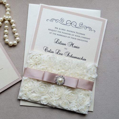 Medium Of Lace Wedding Invitations