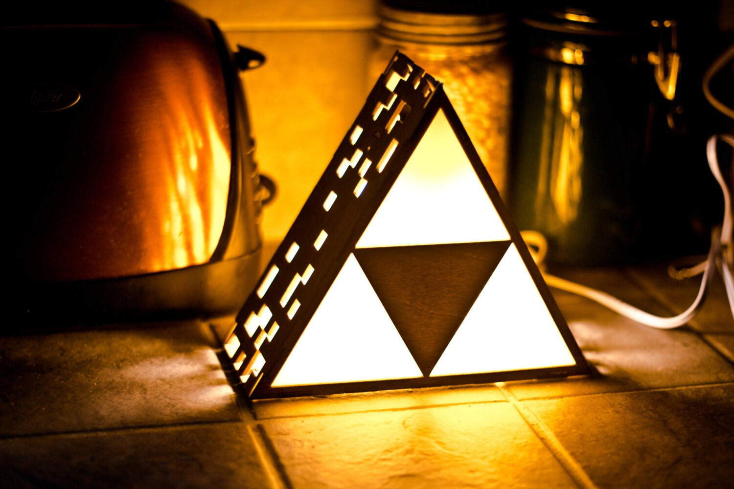 Lampada Batman Zelda Triforce Lamp Mini Hanging Or End Table