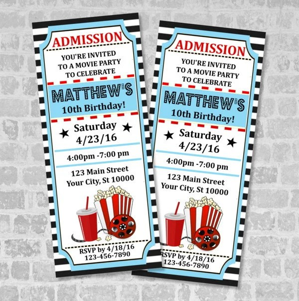 ticket party invitations - Selol-ink - party ticket invitations