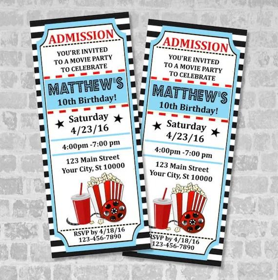 movie ticket invitations - Ozilalmanoof - ticket invitation