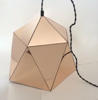 Large Geometric Mirrored Pendant