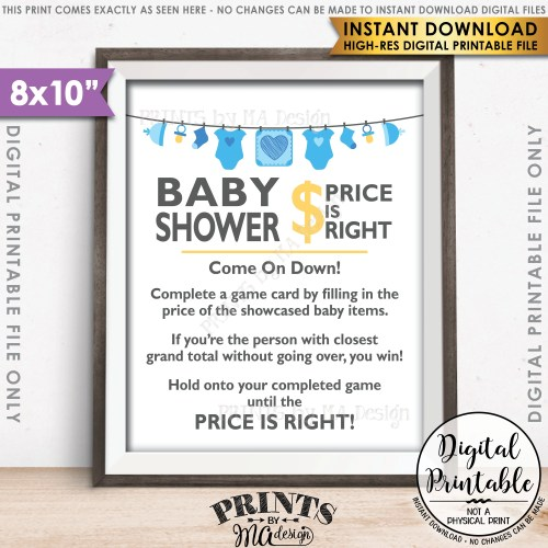 Medium Crop Of Price Is Right Baby Shower Game