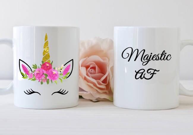 Unicorn Mug Majestic Af Unicorn Mug Unicorn Lover Mug