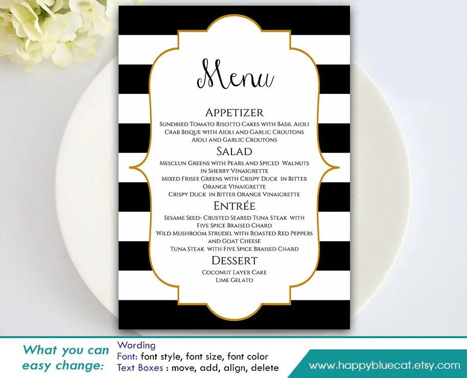 wedding menu templates for microsoft word - Militarybralicious