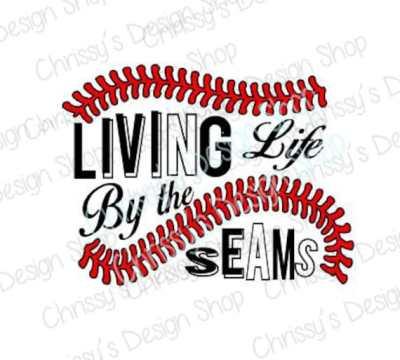 Living by the Baseball seams svg / baseball cut file