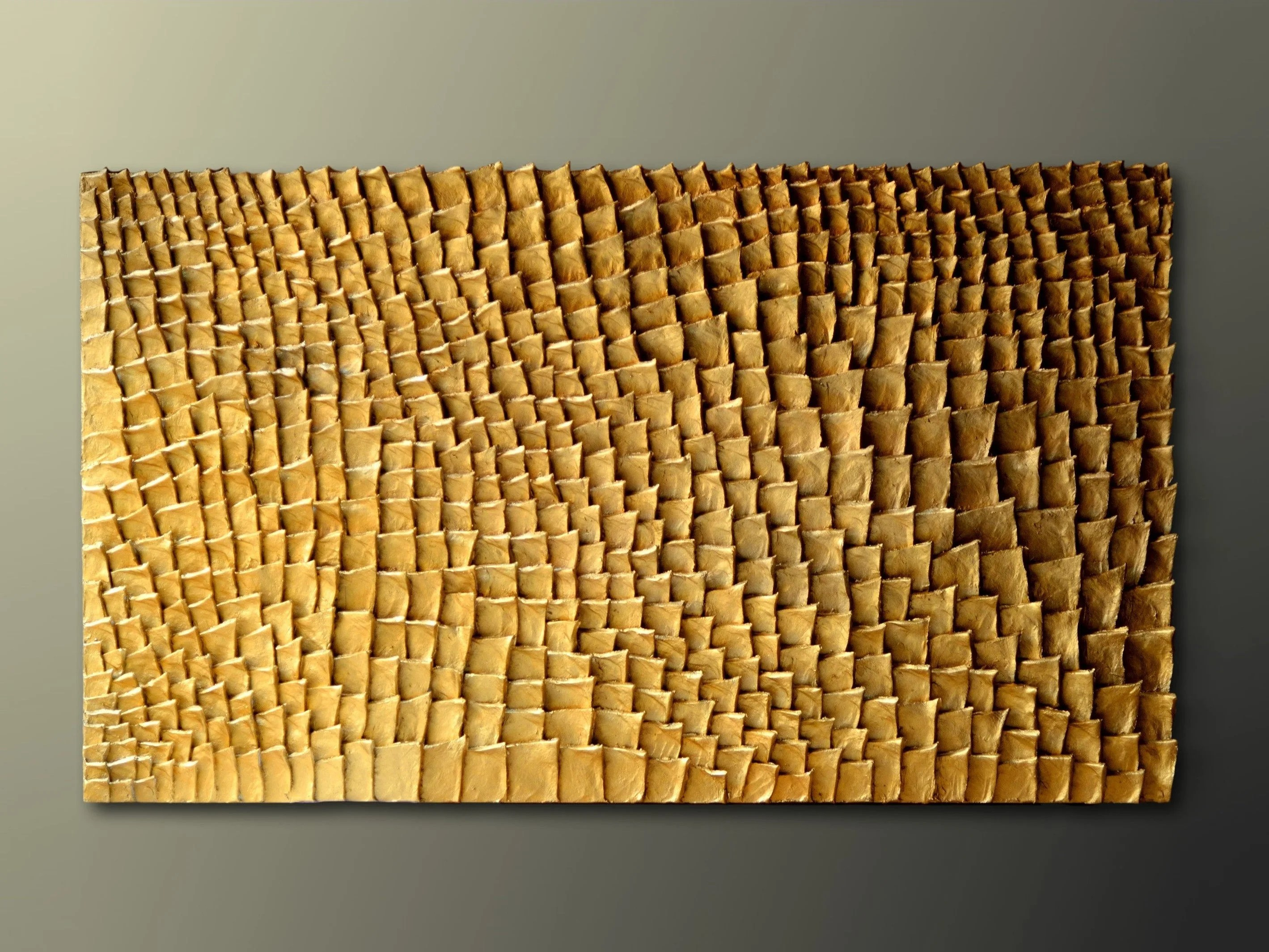 Lesara Quadri 3d Gold Wall Sculpture Organic Texture Wall Art Gold Wall Art