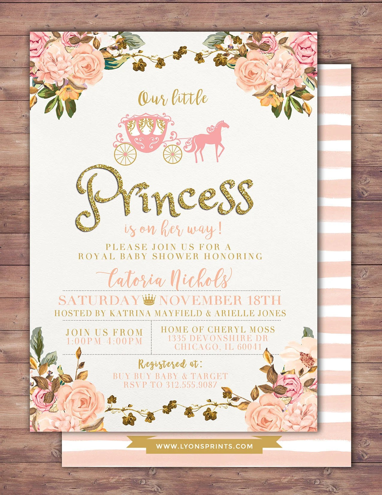 Fullsize Of Princess Baby Shower Invitations