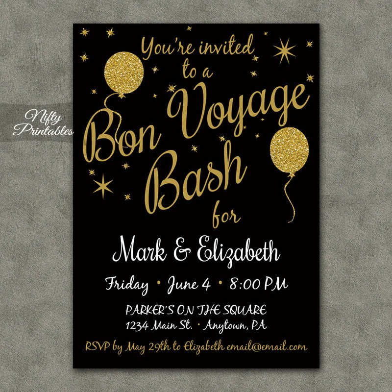 going away party invite template - Eczasolinf