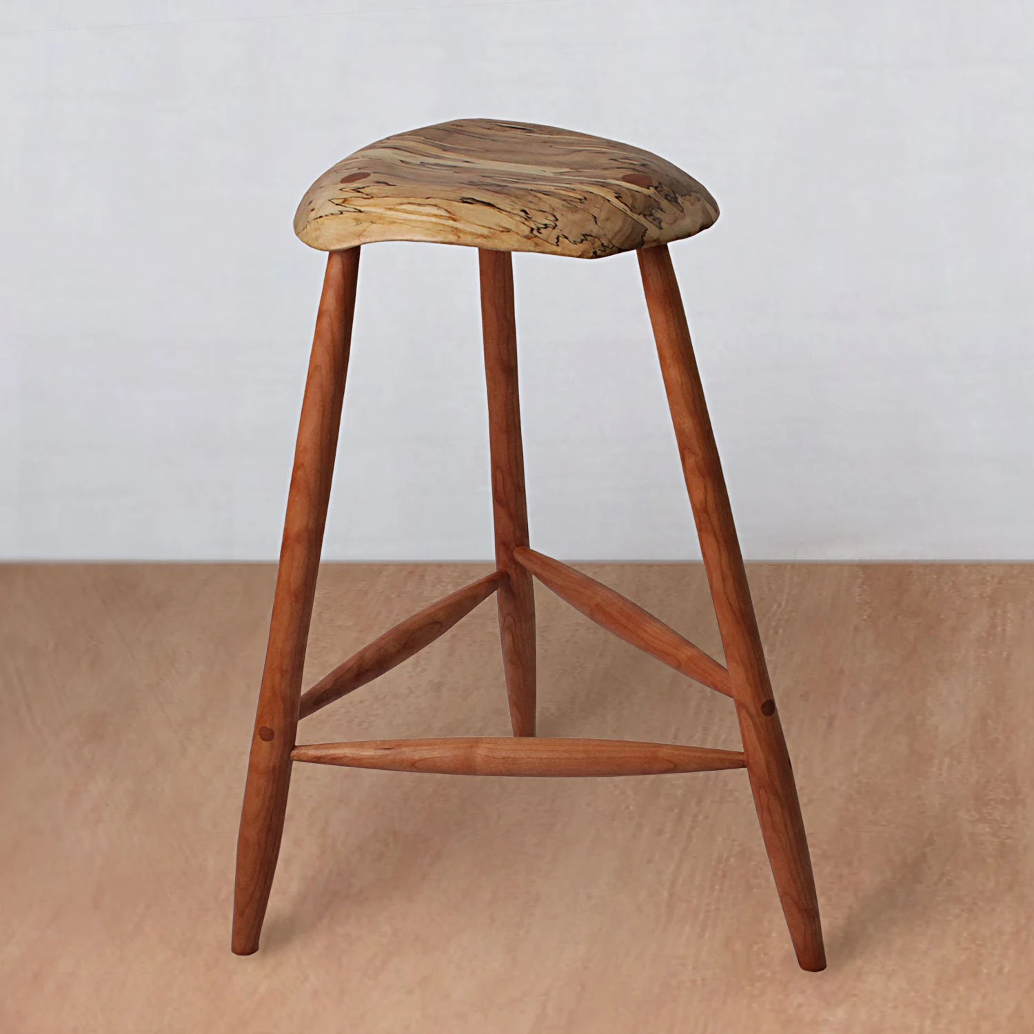 Modern Wood Counter Stool Mid Century Modern Wood Stool Wooden Stool Bar Stool