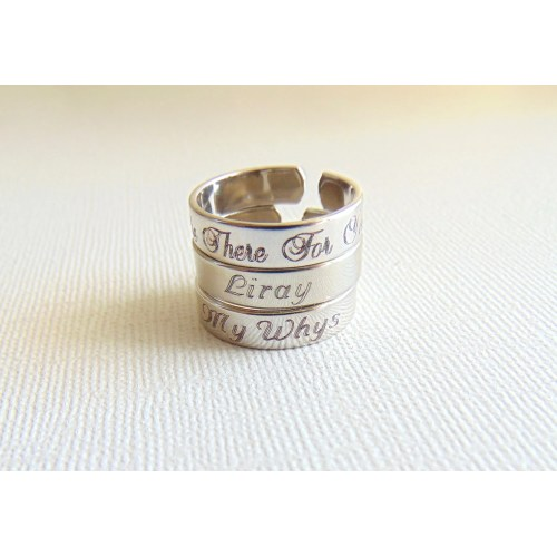 Medium Crop Of Name Engraved Ring