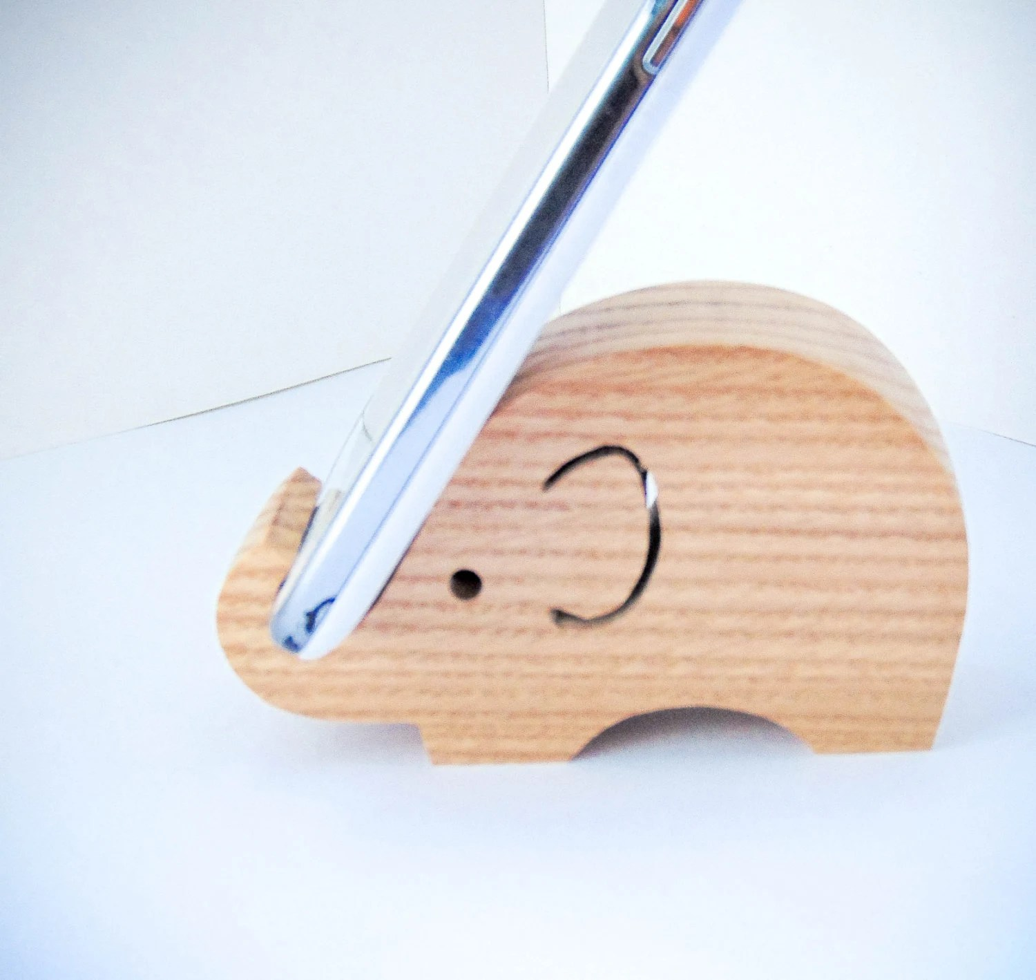 Tablet Halter Küche Diy Wooden Elephant Phone Holder Tablet Holder