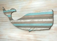 Pallet Whale Wooden Whale Art Beach House Decor Nautical Decor