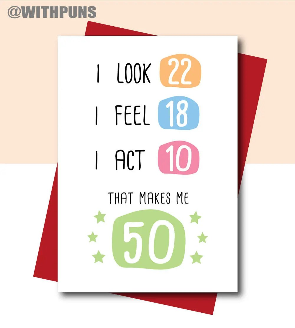 Geburtstagskarte 50 Frau 50th Birthday Card Funny Birthday Card 50th Birthday Gift