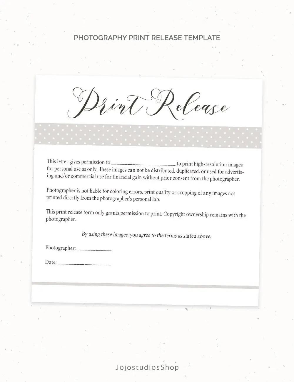 photography print release form template - Kordurmoorddiner