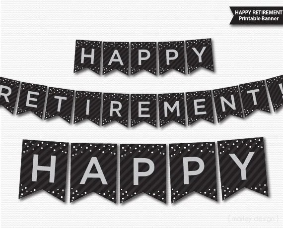 retirement signs banners - Apmayssconstruction