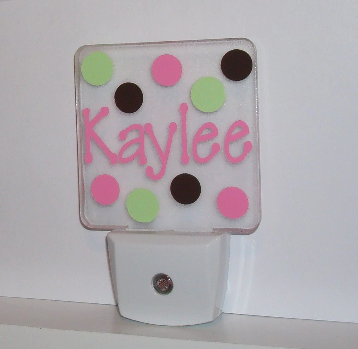 Childrens Wall Night Lights Personalized Led Night Light Monogram Kids Wall Plug In