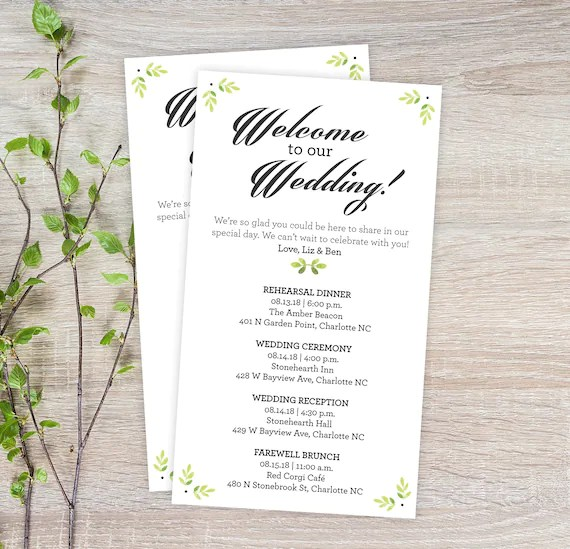 wedding schedule - Apmayssconstruction