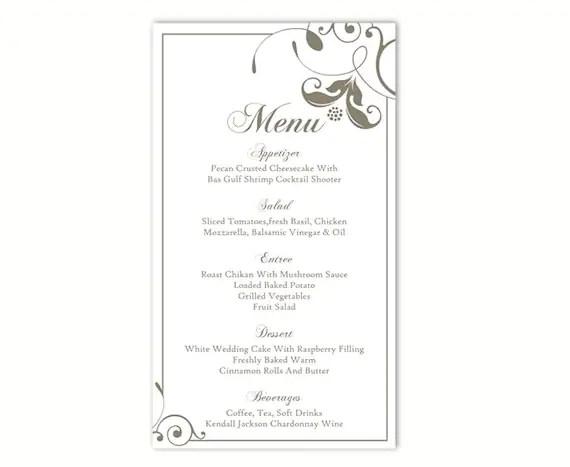 diy menu template - Josemulinohouse - free menu templates for word