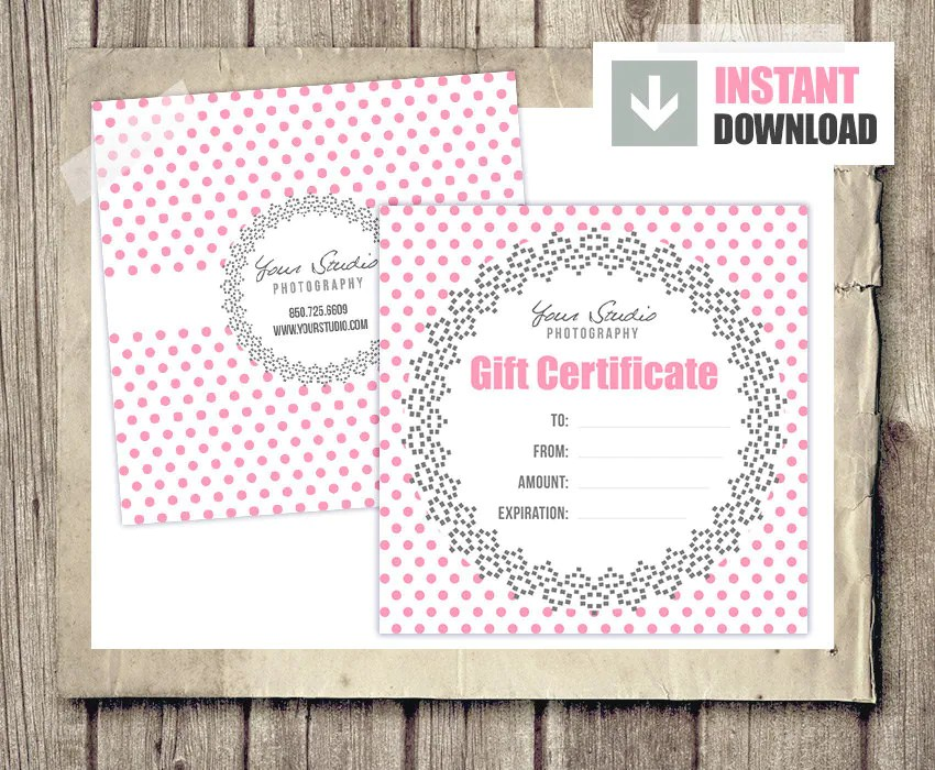 printable photography gift certificate template - Acurlunamedia