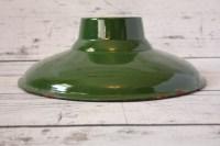 Vintage Goodrich Porcelain Light Shade Lamp Green & White
