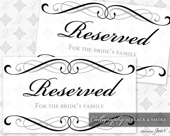 reserved signs template - Apmayssconstruction