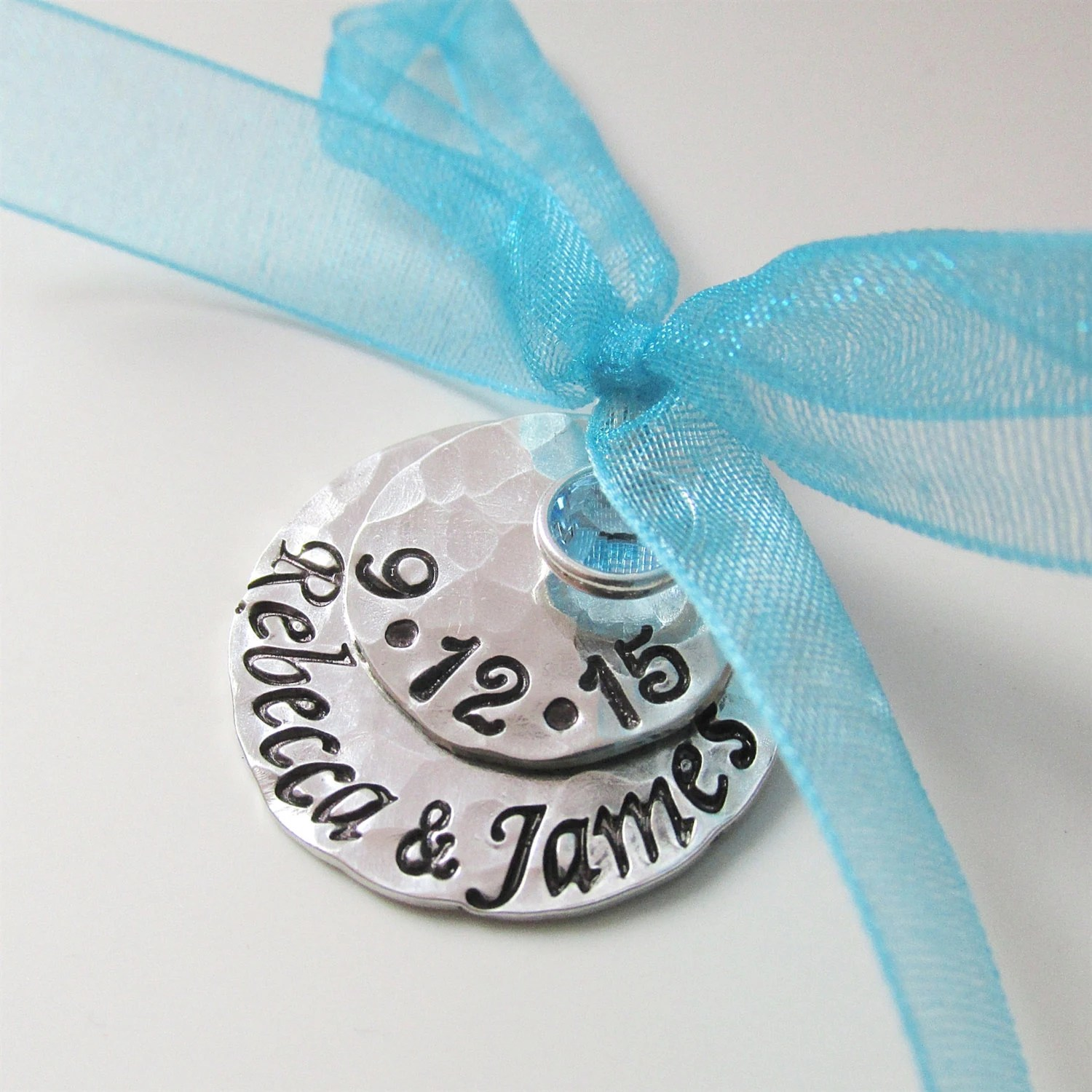 Something Blue Bridal Charm Custom Wedding Charm Hand