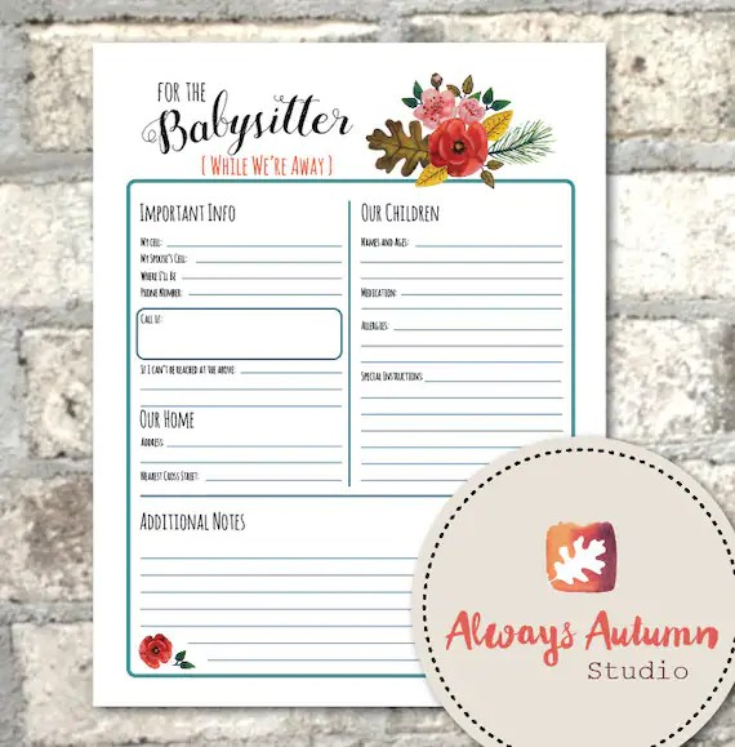 Babysitting Information Sheets 30 best nannying images on pinterest - babysitting information sheets