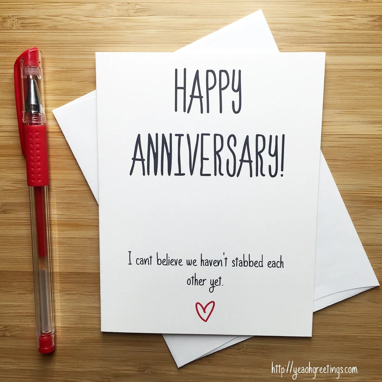 Carte Cadeau Wish Anniversary Card Love Card Happy Anniversary Funny