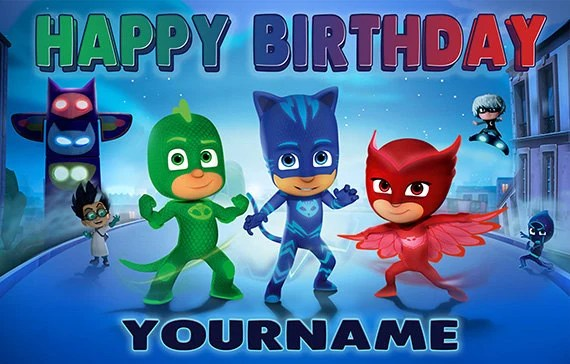 Create Own 3d Name Wallpaper Pj Masks Custom Birthday Banner